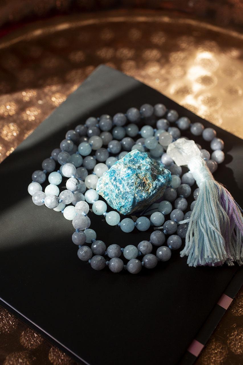 Lunarly mala beads