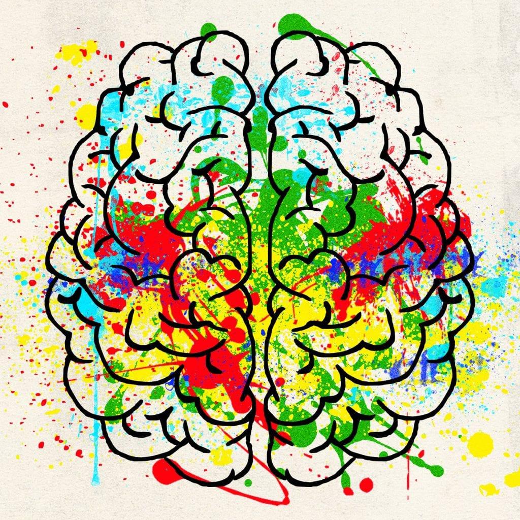 colorful illustration of brain